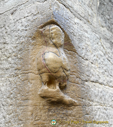 La chouette (owl) at Dijon Notre Dame is known to bring luck when touched