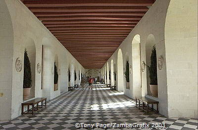 This Florentine style Grande Gallerie was created by Catherine de Medici (1570-76) [Chateaux Country - The Loire - France]