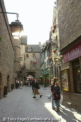 The Grande Rue used to be the Pilgrims' route, followed since the 12th century [Mont-St-Michel - France]