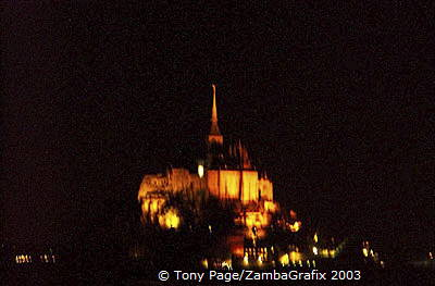 Mont-St-Michel by Night