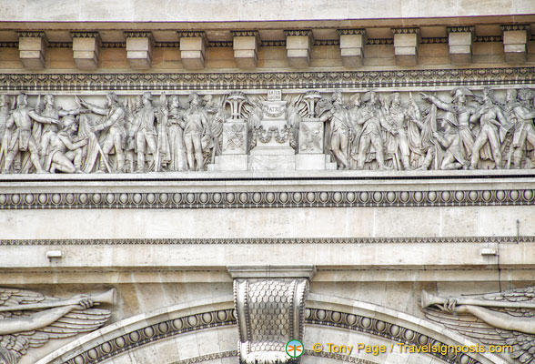 Bas-relief on the façade of the Arc de Triomphe