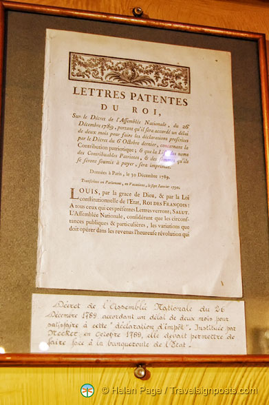 Copy of a 1789 royal decree