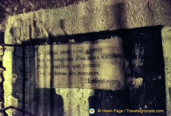 Sayings in the Catacombes