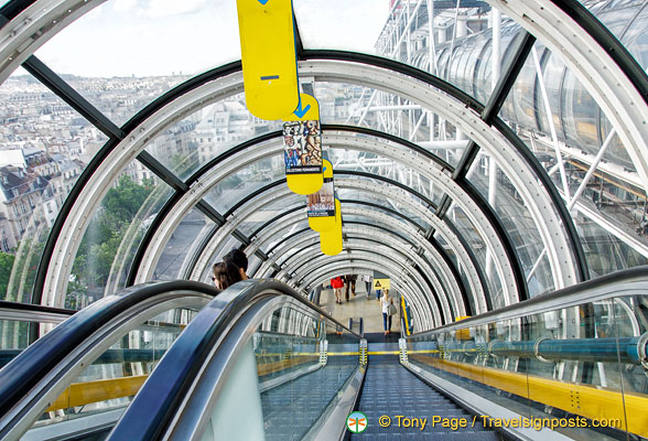The escalator tube of the Centre Pompidou