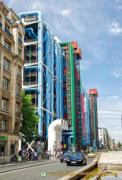 The colourful structure of the Centre Pompidou