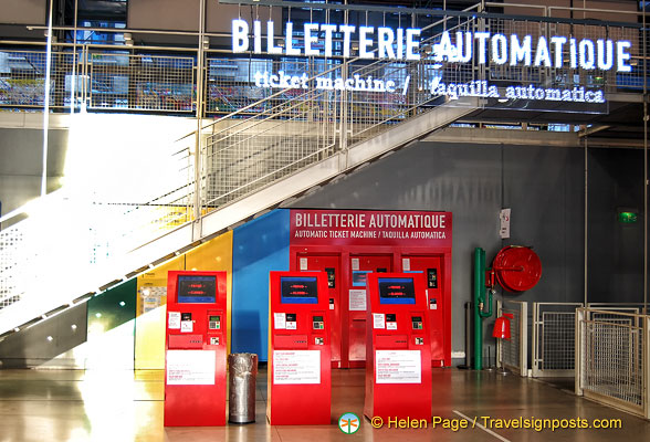 Self-service ticket machines at the Centre Pompidou
