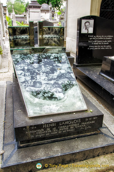 Grave of Henri Langlois, co-founder of French  Cinémathèque Française, one of the largest film related archives in the world