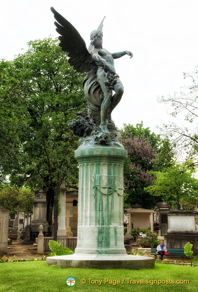 Horace Daillion's bronze Angel of Eternal Sleep