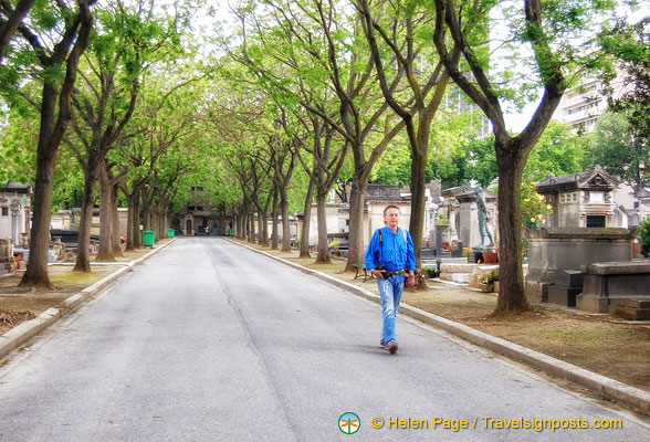 The tree-lined avenues of  Cimetière Montparnasse