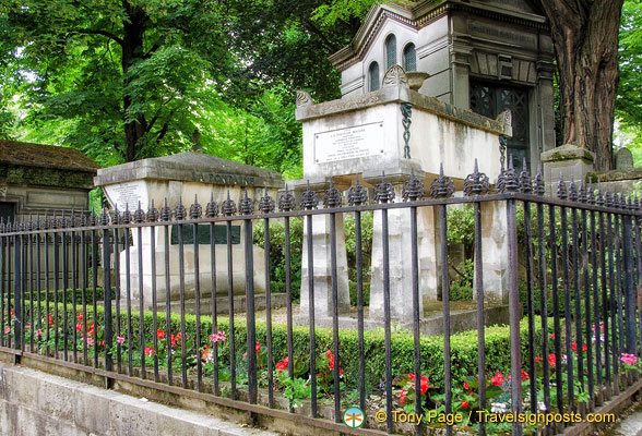 Graves of Moliere and La Fontaine
