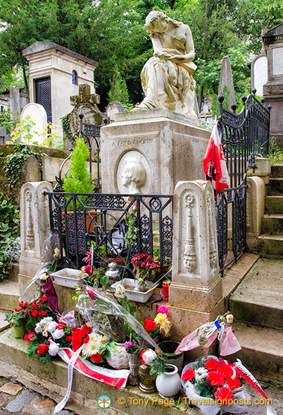 The grave of Frédéric Chopin
