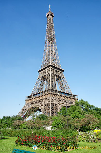 A quieter view of the Eiffel Tower