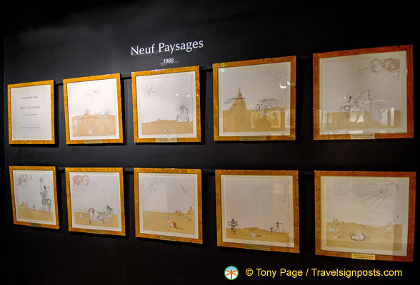 Neuf Paysages - Etchings by Dalí