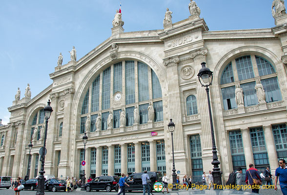 Entrance of Gare du Nord