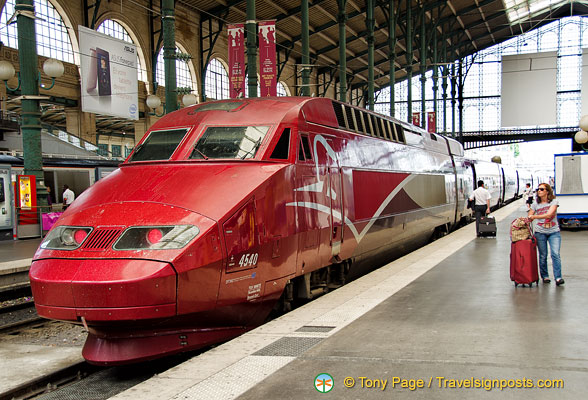Red Thalys train