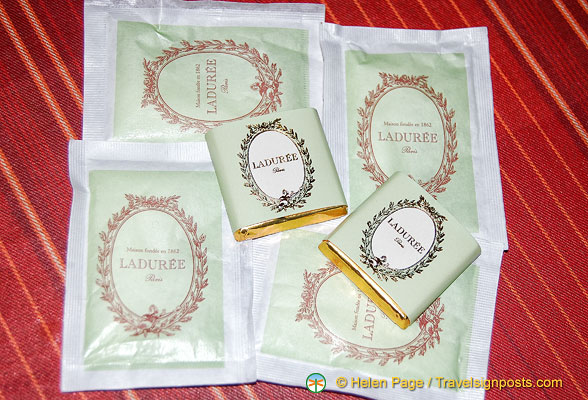 Ladurée chocolates and sugar