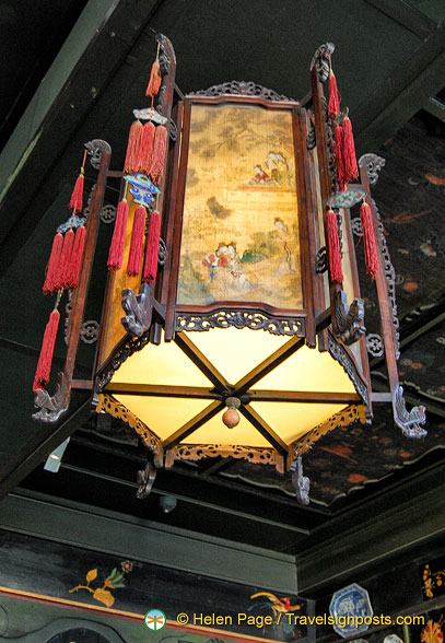 Chinese lantern in the Chinese Drawing Room