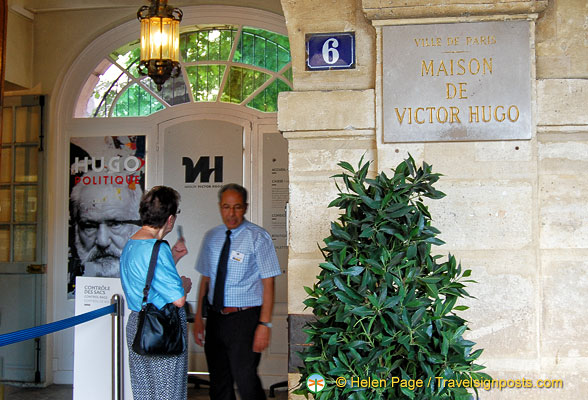 Entrance to Maison de Victor Hugo on Place des Vosges
