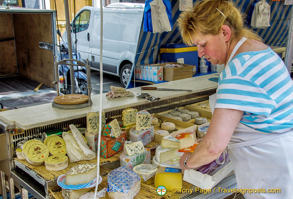 Wonderful french cheeses at Marché Saxe-Breteuil