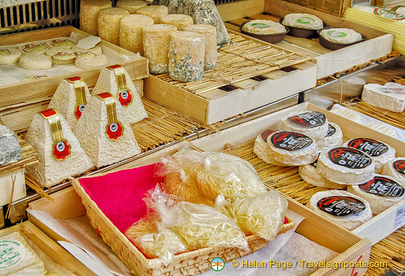 A range of goat and sheep-milk cheeses