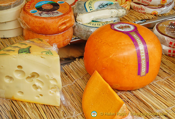 Mimolette, a hard cow's milk cheese normally from Lille, but this one's from Kroon