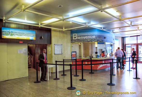 Ticket office for the Tour Montparnasse