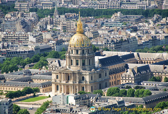 View of Les Invalides in the 7th arrondissement