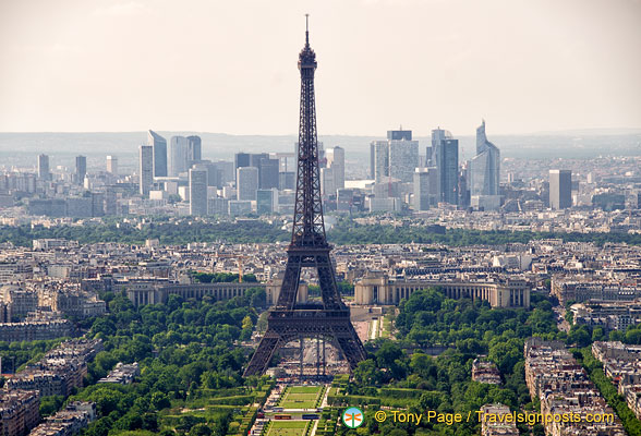 View of the Eiffel Tower from Montparnasse Tower