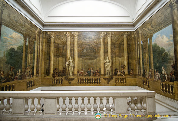 Murals from the ancient Hotel de Luynes, executed by the Brunettis in 1748