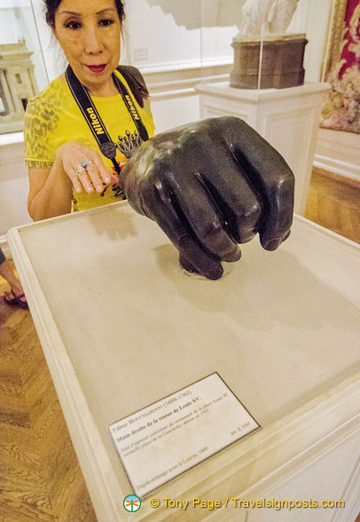 Right hand from a statue of Louis XV