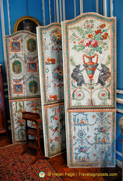 Decorative panels in the Louis XVI Blue Room