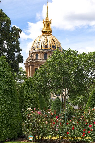 View of the Ivalides dome from the Musee Rodin
