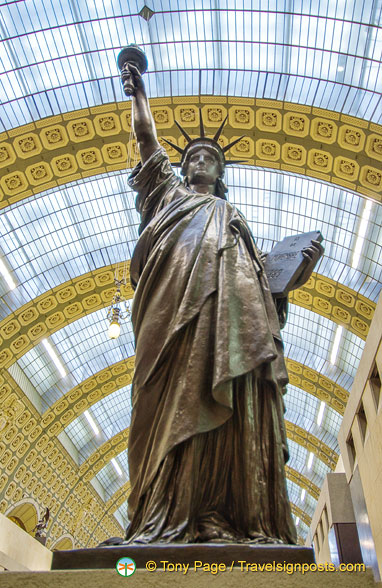 La Liberté was created by Auguste Bartholdi in 1889 and exhibited in the Paris Universal Exhibition