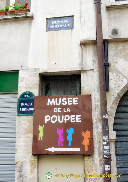 Musée de la Poupée at Impasse Berthaud in the 3rd arrondissement