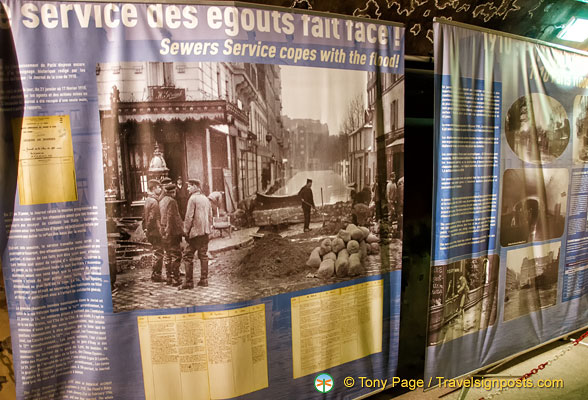How the sewer services coped with the 1910 Paris floods