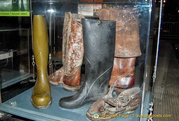 Boots worn in the Paris sewers