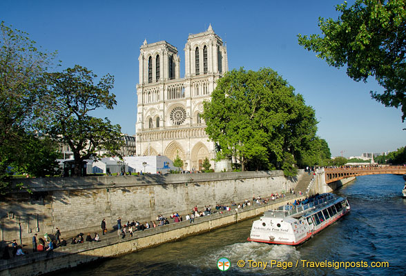 Cruising by Notre-Dame's west facade
