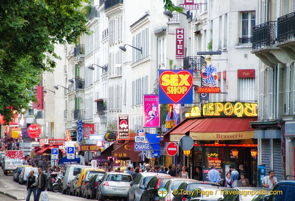 The Pigalle area is famous for its many sex shops