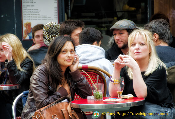 Watching the world go by in rue Montorgueil
