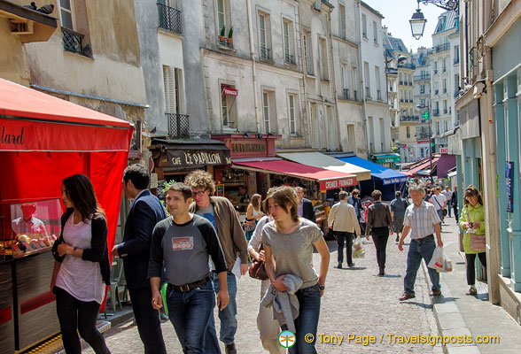 Rue Mouffetard is a busy and lively street