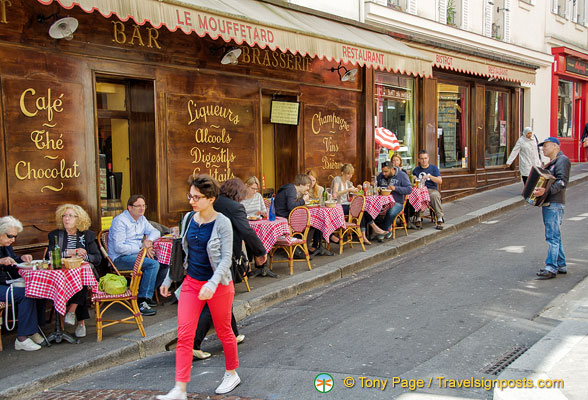 le mouffetard restaurant at 116 rue mouffetard. Black Bedroom Furniture Sets. Home Design Ideas
