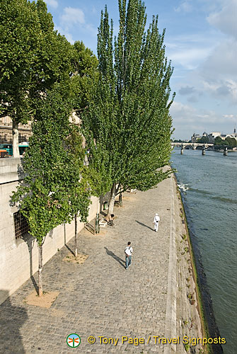 Along the Seine riverbank