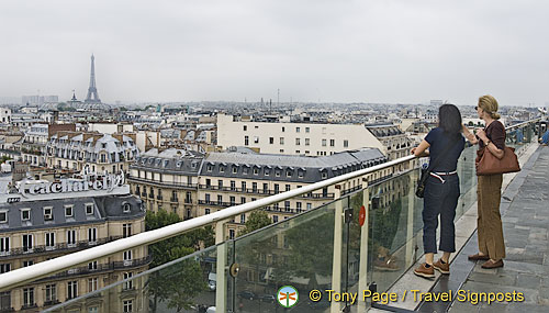 Seeing the sights of Paris from the top of Printemps