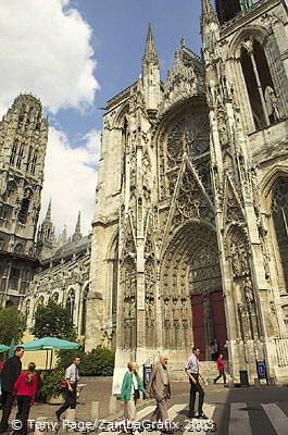 In the 1890's Monet did almost 30 paintings of the Cathedrale [Rouen - France]