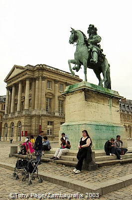 The present palace was started by Louis XIV in 1668
