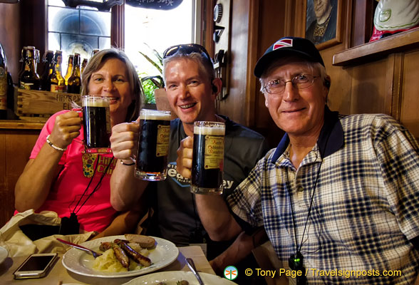 Lisa, Steve and Pat and their rauchbier