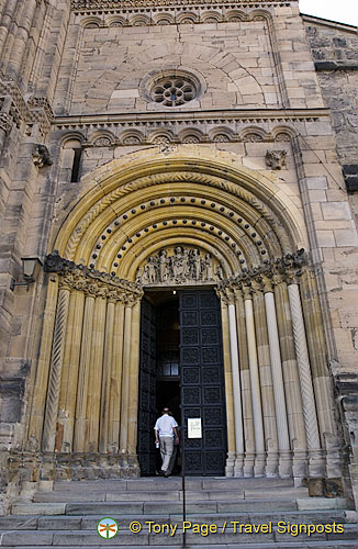 The Gothic Furstenportal or Sovereigns' Portal of Bamberg Cathedral