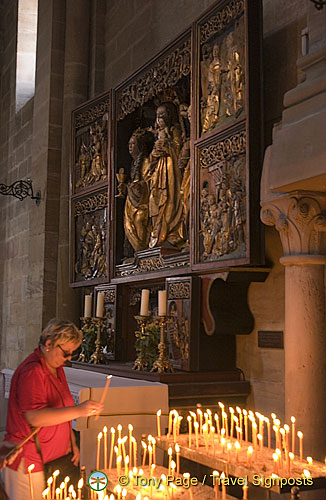 A devotee in Bamberg Cathedral