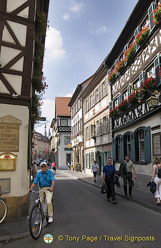 Dominikanerstraße in the centre of Bamberg