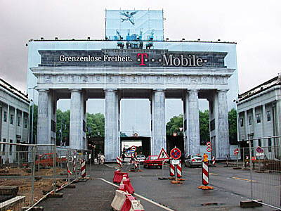 Brandenburg Gate under renovation
